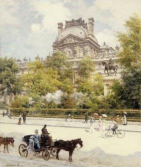 Jean Béraud: La Place du Louvre