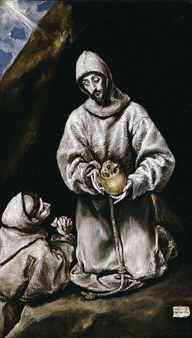 Greco El (Dominikos Theotokopoulos): Der heiliger Franziskus meditierend