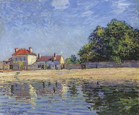 Alfred Sisley: Am Ufer des Loing, Saint-Mammes