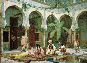 Gustave Clarence Rodolphe Boulanger: Der Hof des Dar Khdaoudj el Amia Palastes in Algier