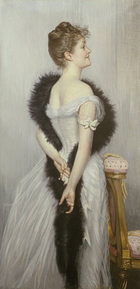 James Jacques Tissot: Portrait der Vicomtesse De Montmorand (1863-1924)