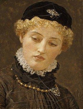 Albert Moore: Ellen Terry (1847-1928) als Portia in Der Kaufmann von Venedig. Um 1885