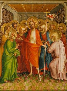 Meister des Heisterbacher Altars: Christus erscheint den Aposteln