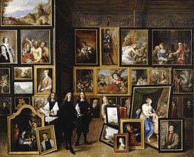 David Teniers: Der Erzherzog Leopold Wilhelm mit dem Künstler und anderen Personen in seiner Galerie