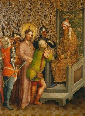 Meister des Heisterbacher Altars: Christus vor dem Hohen Rat