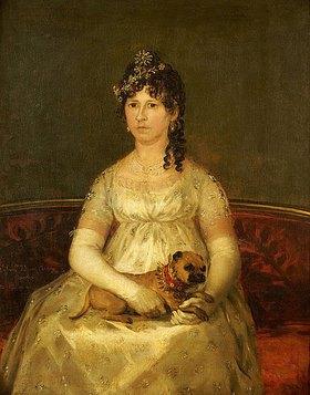 Francisco José de Goya: Portrait der Dona Francisca Vicenta Chollet y Caballero mit einem Schoßhund