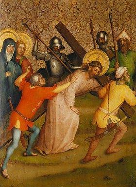 Meister des Heisterbacher Altars: Kreuztragung Christi