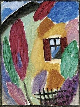 Alexej von Jawlensky: Variation mit Haus und Gartenzaun