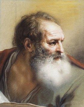 Benedetto Luti: Kopf eines bärtigen Mannes