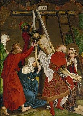Martin Schongauer: Kreuzabnahme. Dominikaner-Altar, Innen- Tafel