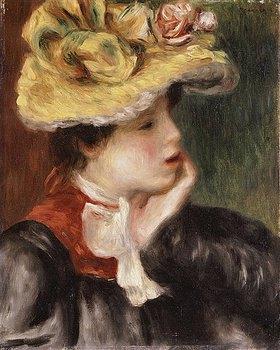 Auguste Renoir: Mädchen mit einem gelben Hut