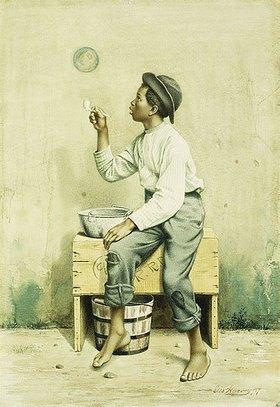 George Harvey: Junge beim Seifenblasen
