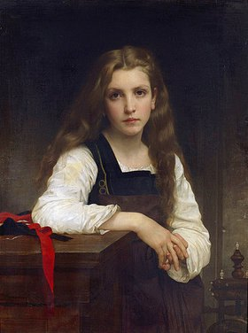 William Adolphe Bouguereau: Die kleine Spinnerin