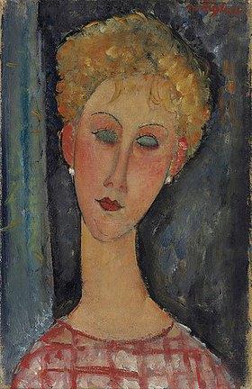 Amadeo Modigliani: Blonde junge Frau mit Ohrringen