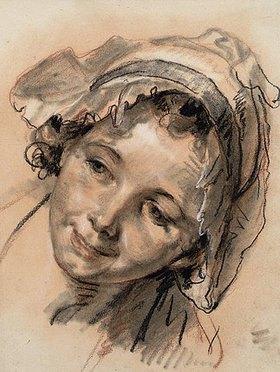 Jean Baptiste Greuze: Kopfstudie eines lächelnden Mädchens