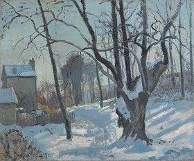 Camille Pissarro: Schneelandschaft in Louveciennes (Louveciennes, Chemin de Creux, Louveciennes, neige)