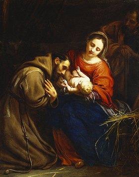 Jacob van Oost d.Ä.: Die Heilige Familie mit dem Heiligen Franziskus