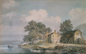 Joseph Mallord William Turner: Ein Farmhaus an einem See im Lake District