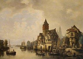 Hermann Meyerheim: Eine Stadt an einem Fluss