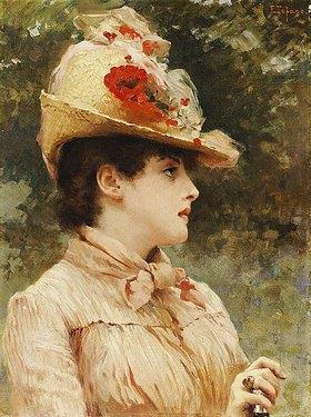 Eduardo Tofano: Bildnis einer jungen Frau mit Hut