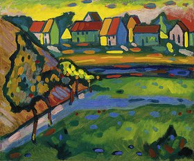 Wassily Kandinsky: Bayerisches Dorf mit Feld