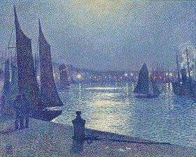 Theo van Rysselberghe: Mondnacht in Boulogne-sur-Mer