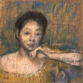Edgar Degas: Brustbild einer Frau, ihre linke Hand am Kinn
