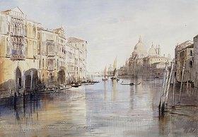 Edward Lear: Der Canal Grande mit Santa Maria Della Salute, Venedig