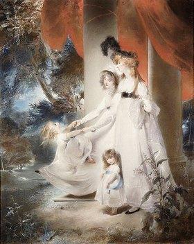 Sir Thomas Lawrence: Ayscoghe Boucherett mit ihren beiden älteren Kindern Emilia und Ayscoghe sowie ihrer Halbschwester Juliana Angerstein, spätere Madame Sabloukoff