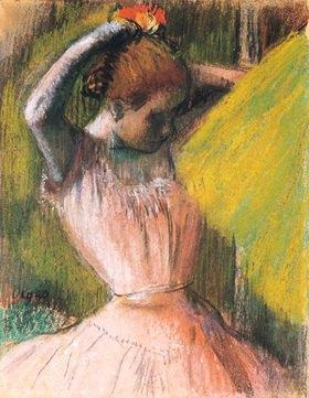 Edgar Degas: Sich frisierende Tänzerin