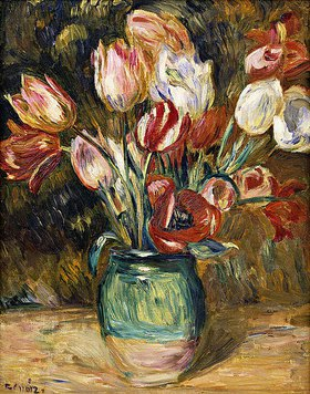 Auguste Renoir: Vase mit Tulpen