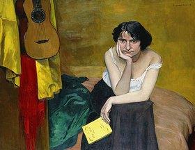 Felix Vallotton: Frau mit Gitarre