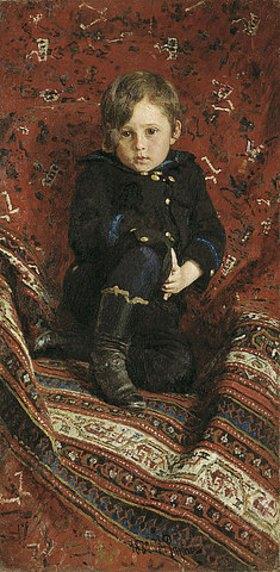 Ilja Efimowitsch Repin: Porträt von Juri Repin, Sohn des Künstlers