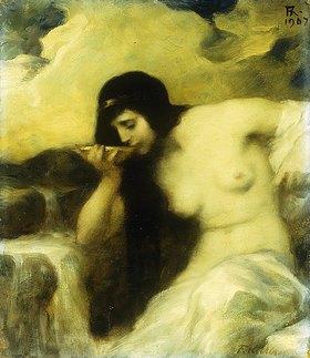 Ferdinand Keller: Eine Nymphe an einer Quelle