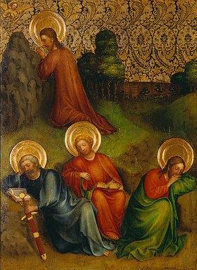 Meister des Heisterbacher Altars: Christus am Ölberg
