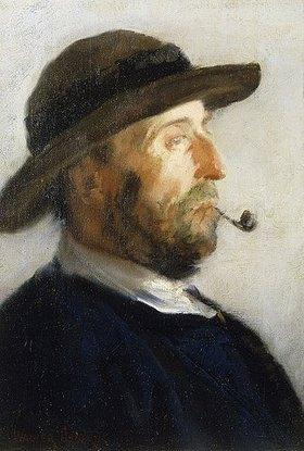 Walter Osborne: Portrait eines Künstlers (wahrscheinlich Augustus Burke, 1838-1891)