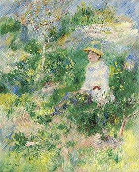 Auguste Renoir: Sommer, junge Frau auf einer Blumenwiese