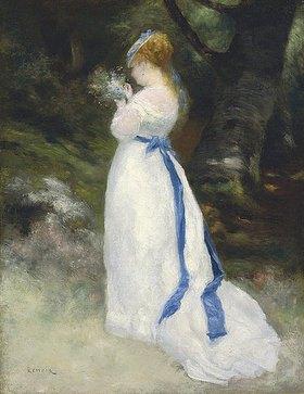 Auguste Renoir: Portrait von Lise (Lise mit einem Feldblumenstrauß)