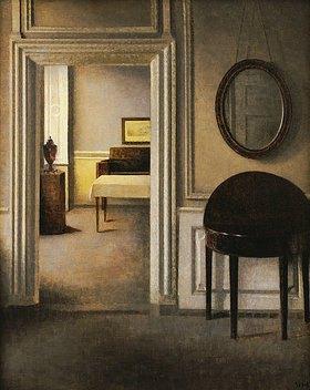 Vilhelm Hammershoi: Das Musikzimmer, 30 Strandgade