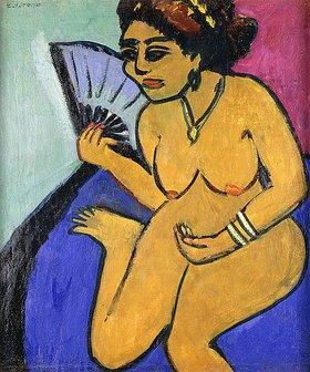 Ernst Ludwig Kirchner: Sitzender Akt mit Fächer