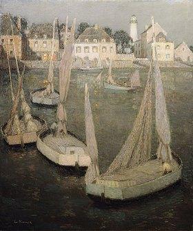Henri Le Sidaner: Bretonischer Hafen bei Mondlicht