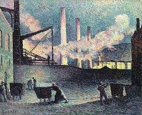 Maximilien Luce: Fabrikschornsteine in Couillet