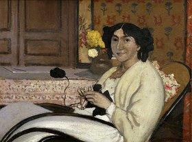 Felix Vallotton: Portrait von Madame Rodrigues-Vallotton, der Ehefrau des Künstlers