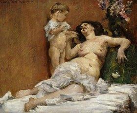 Lovis Corinth: Mutter und Kind (Charlotte Corinth mit ihrem zweijährigen Sohn Thomas)