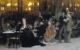 Ilja Efimowitsch Repin: In einem Pariser Café