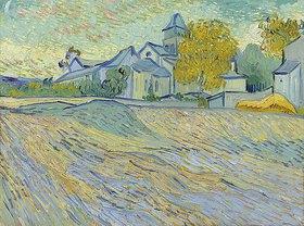 Vincent van Gogh: Ansicht des Spitals und der Kapelle von Saint Rémy