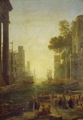 Claude Lorrain (Gellée): Die Einschiffung der hl. Paula in Ostia
