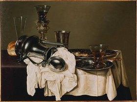 Gerrit Willems Heda: Stillleben mit  Römern, einem Silberkelch, Zinntellern und einem Weinglas