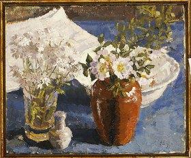 Harold Gilman: Stillleben mit Blumen in einer Vase