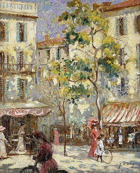 Joseph Alfred Terry: Straßenszene in Paris